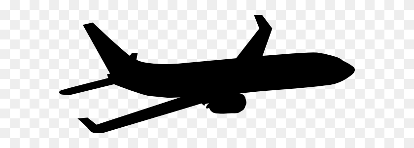 Airplane Silhouette Clip Art Look At Airplane Silhouette Clip - Airplane With Banner Clipart