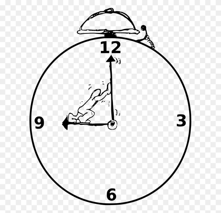 Alarm Clocks Digital Clock Quartz Clock Watch - Watch Clipart Black And White