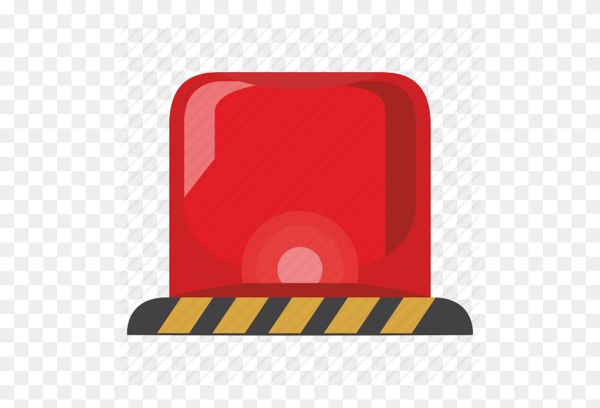 Alarm, Custom, Police, Red, Signal, Siren Icon - Police Siren PNG