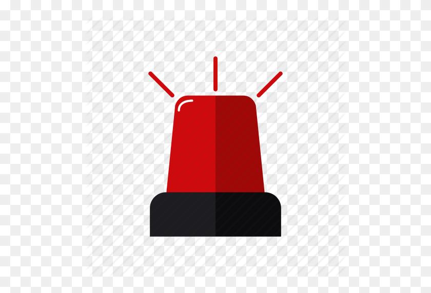 Alarm, Design, Emergency, Light, Red, Siren Firefighters Icon - Siren PNG