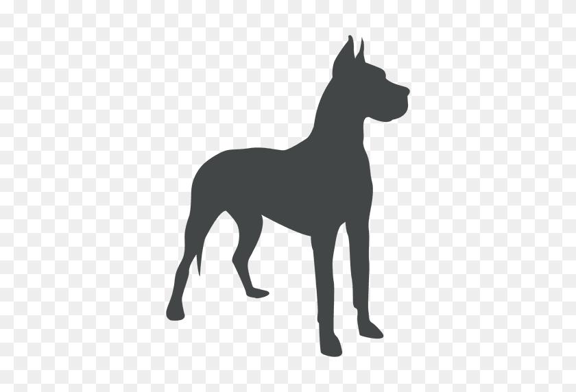 Alert Dog Silhouette Posing - Pitbull PNG