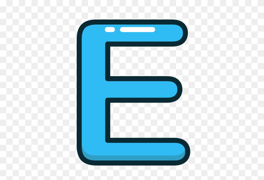 Alphabet, Blue, E, Letter, Letters Icon - Letter E PNG