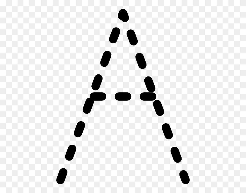 Alphabet Tracing Letter A Clip Art - Letter Clipart PNG