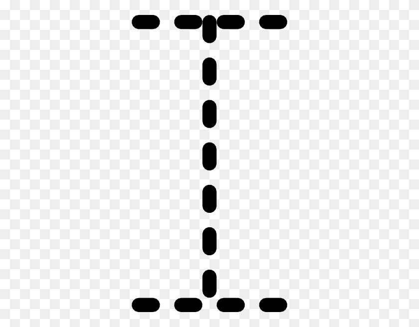 Alphabet Tracing Letter I Clip Art Free Vector - Alphabet Border Clipart
