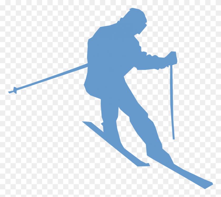 Alpine Skiing Sport Ski Boots Ski Poles - Ski Boots Clipart