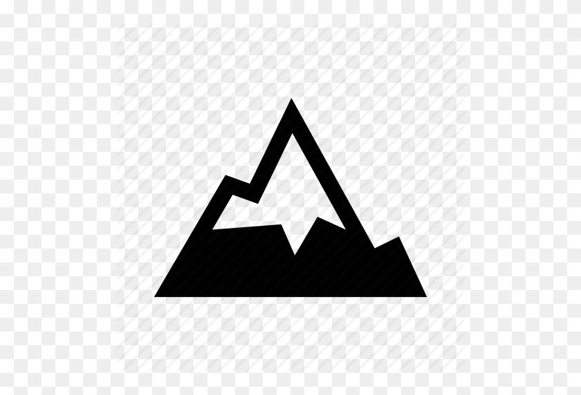 Altitude, Climb, Mountain, Peak, Rugged, Ski, Snow Icon - Mountain Vector PNG