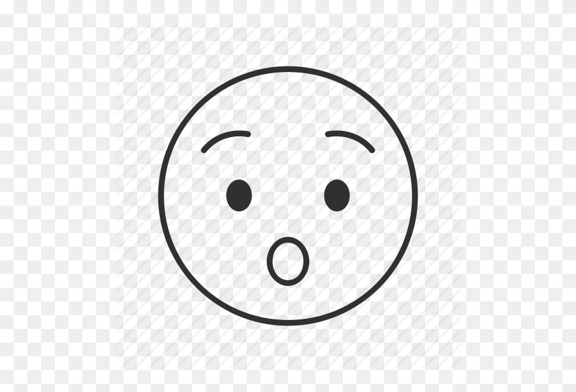 Amazed, Emoji, Shocked, Shocked Face, Surprised, Surprised Face - Shocked Face PNG