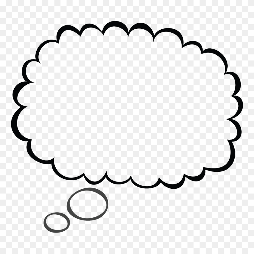 Amazing Person Thinking With Thought Bubble Clip Art - Person Thinking Clipart