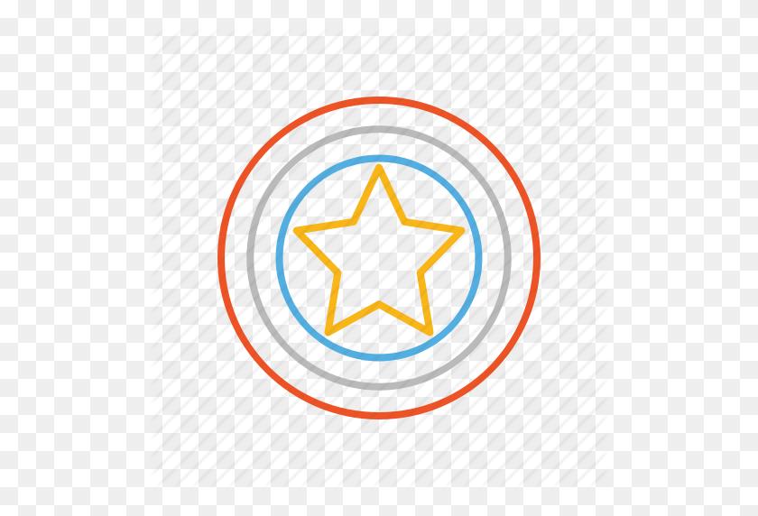 America, Captain, Captain America, Hero, Line, Marvel, Shield Icon - Captain America Logo PNG