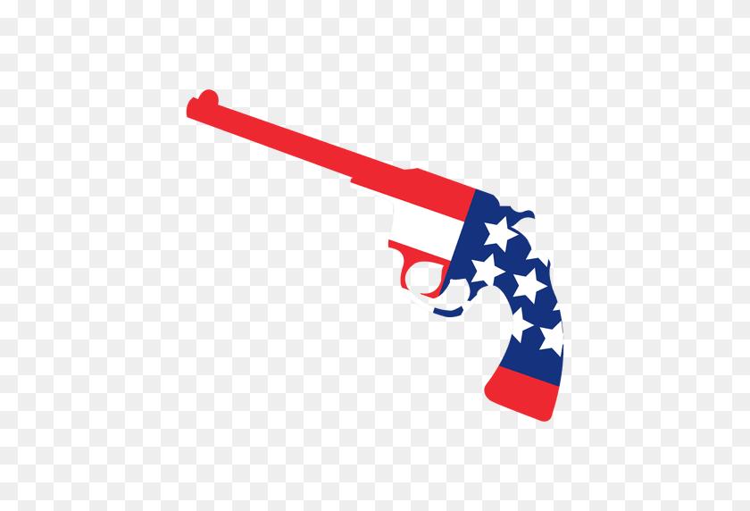 America Flag Print Gun - American Flag PNG