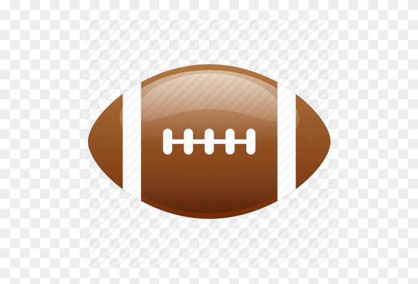 American, American Football, Ball, Football, Glossy, Sports Icon - Sports Balls PNG