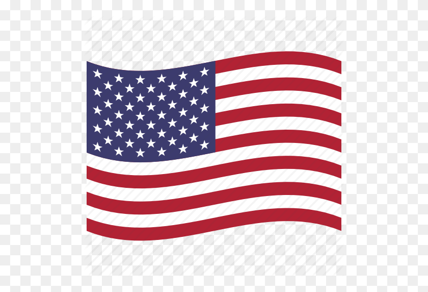 American Flag, North America, United States, Us, Usa, Waving Icon - Waving American Flag PNG