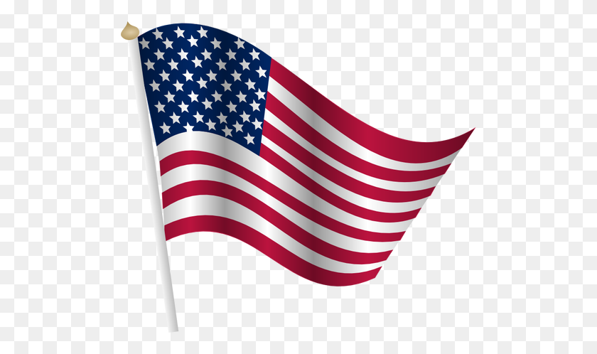 American Flag Waving - Waving American Flag PNG