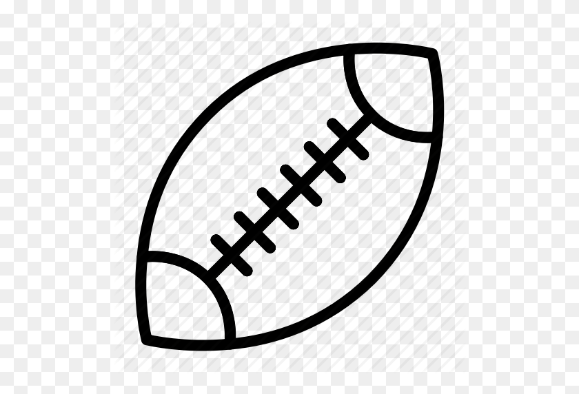 American Football Ball Outline Rugby Set Sports Icon