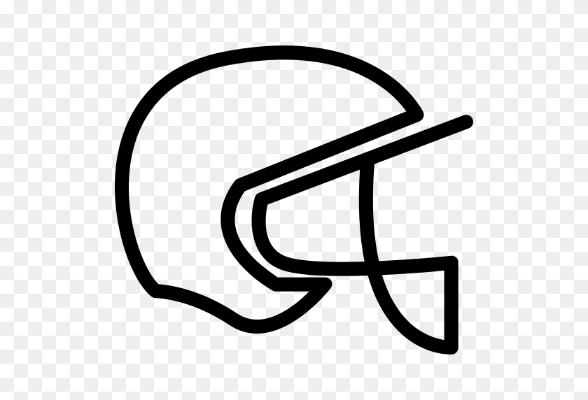 American Football Helmet Png Icon - Football Helmet Clipart Black And White