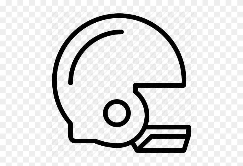 American, Football, Helmet, Sport Icon - Football Helmet Clipart Black And White