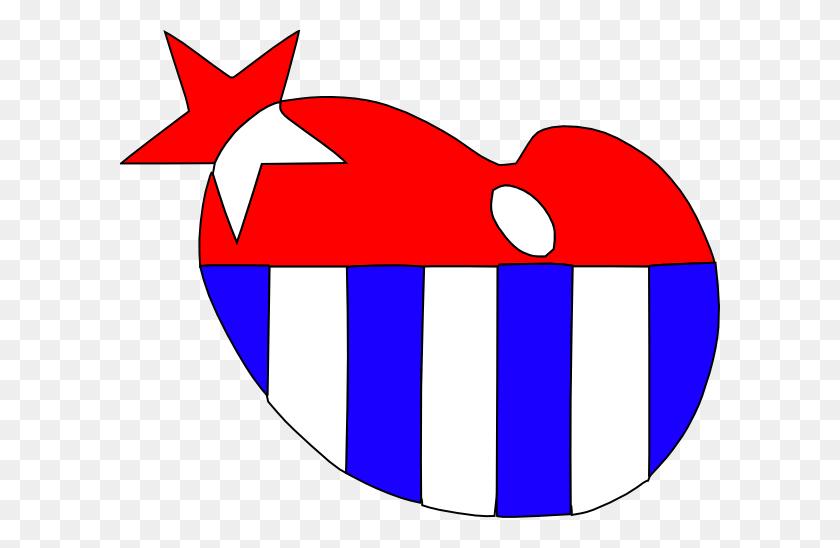 American Patriotic Heart Border Clipart - Patriotic Border Clip Art