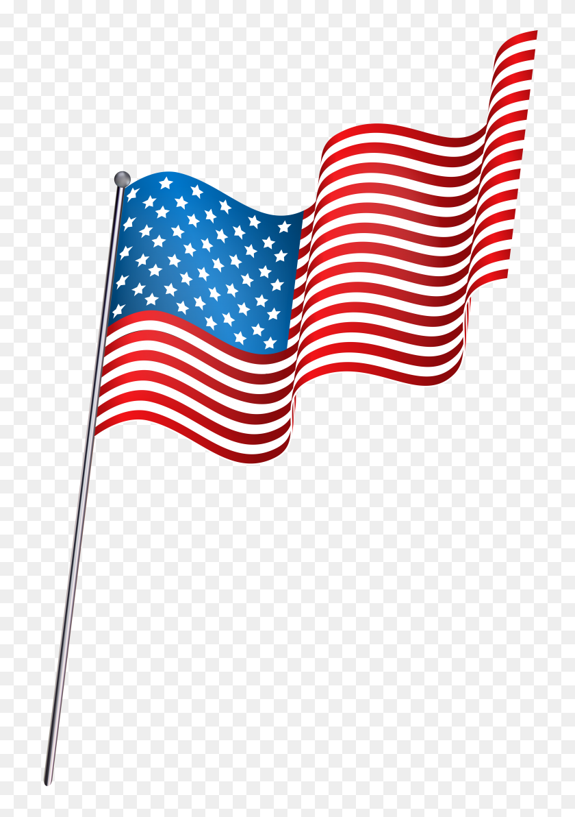 American Waving Flag Png Clip - Waving American Flag PNG