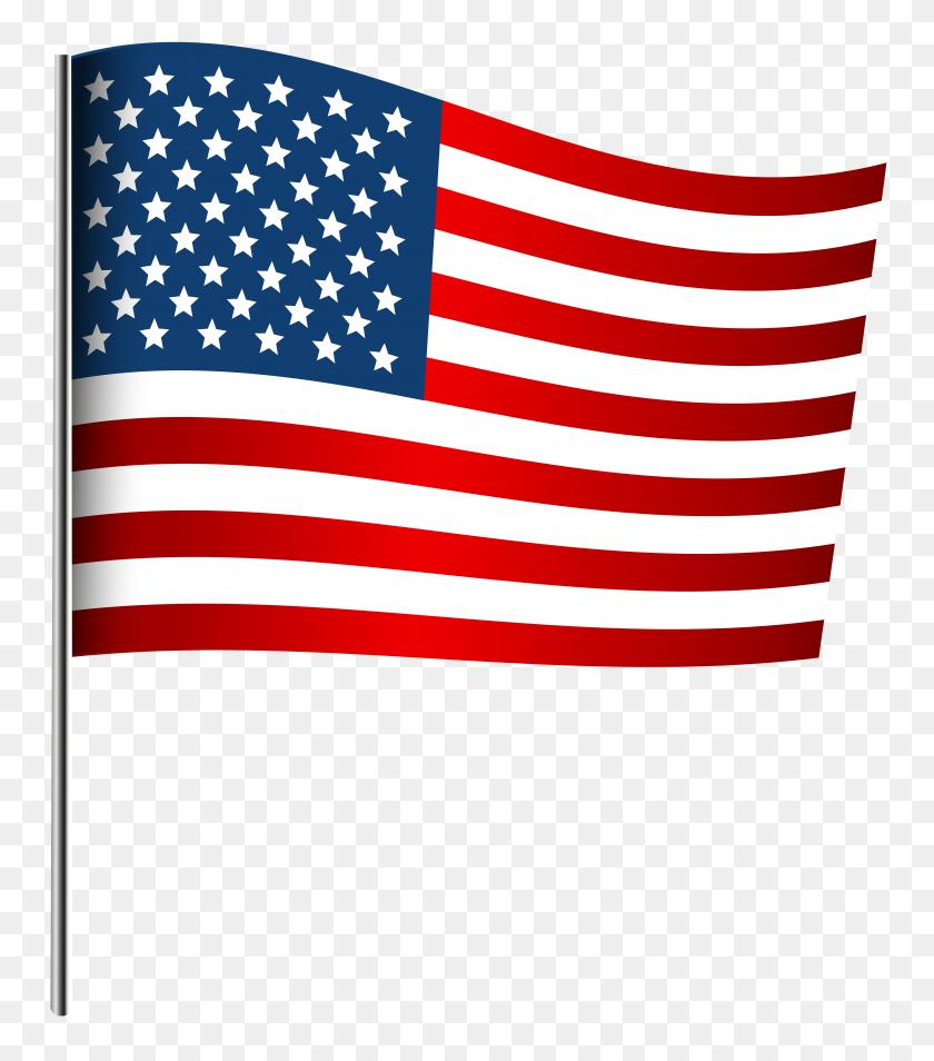 American Waving Flag Png Clip Art - Waving American Flag Clip Art