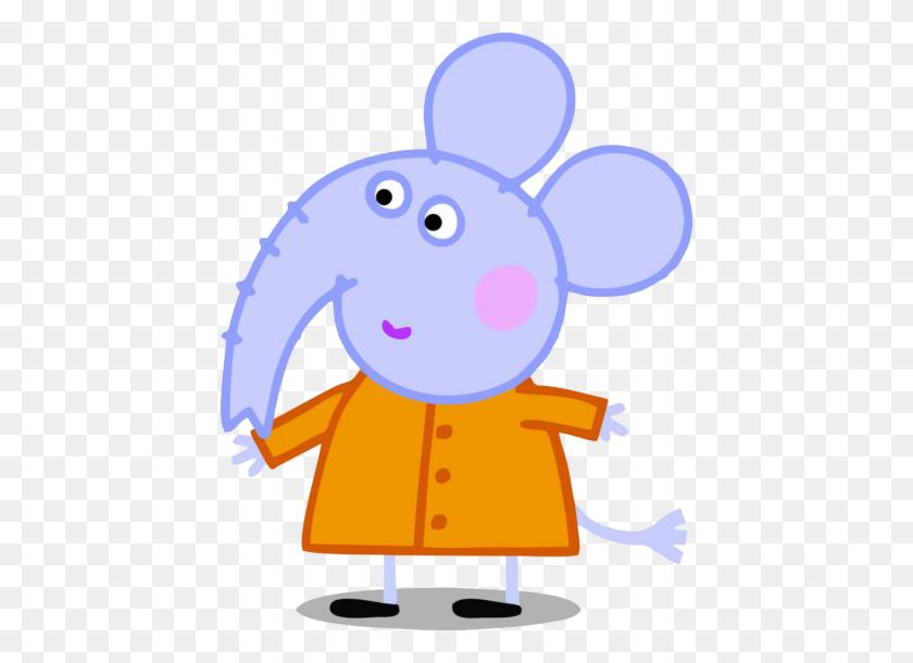 Amigos De Peppa Pig Elefante Emily Cartoon Png - Amigos Clipart