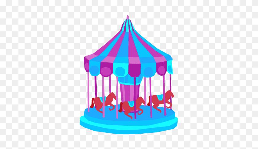 Amusement Park Clipart Fair Ride - Carousel Horse Clipart