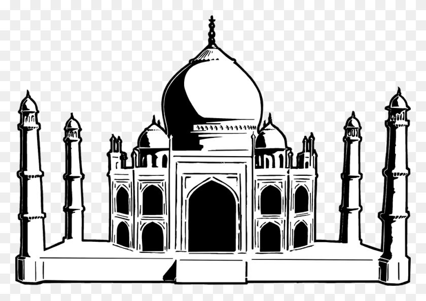 958x657 An Unvisited Subcontinent R J Nello - Taj Mahal PNG