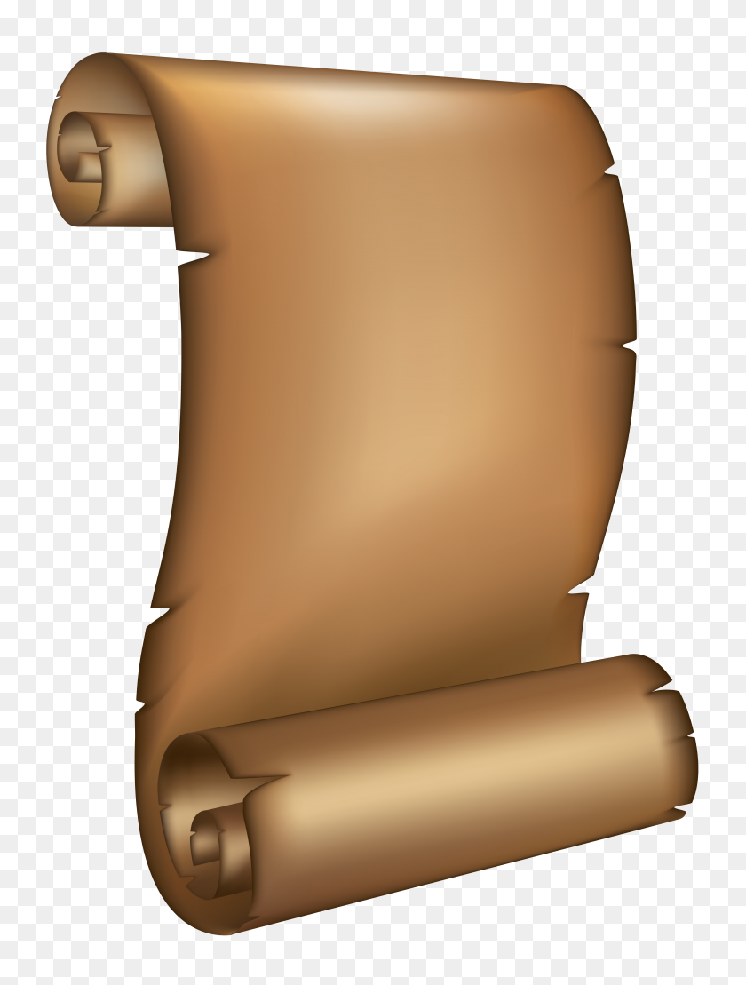 Ancient Scrolled Paper Png Clipart - Paper Scrolls Clipart