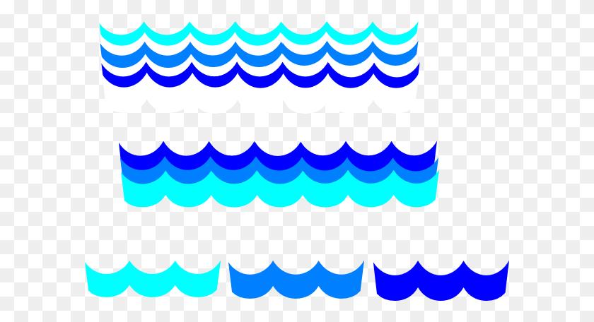 And Blue Wave Border Vector Png Wave Border Color Waves Png - Wave Border PNG