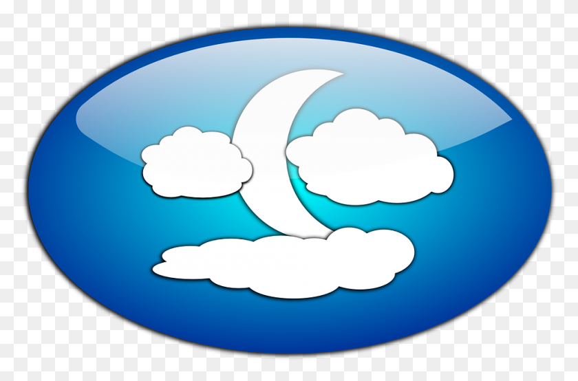 960x609 And The Moon - Moon Clipart PNG