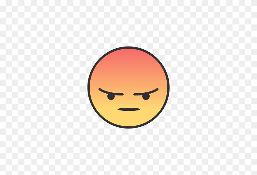 Angry, Angry Emoji, Emoji, Facebook Icon - Angry PNG