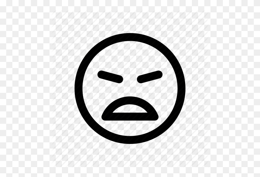 Angry, Annoyed, Bitter, Emoji, Emoticon, Furious, Upset Icon - Angry Mouth PNG