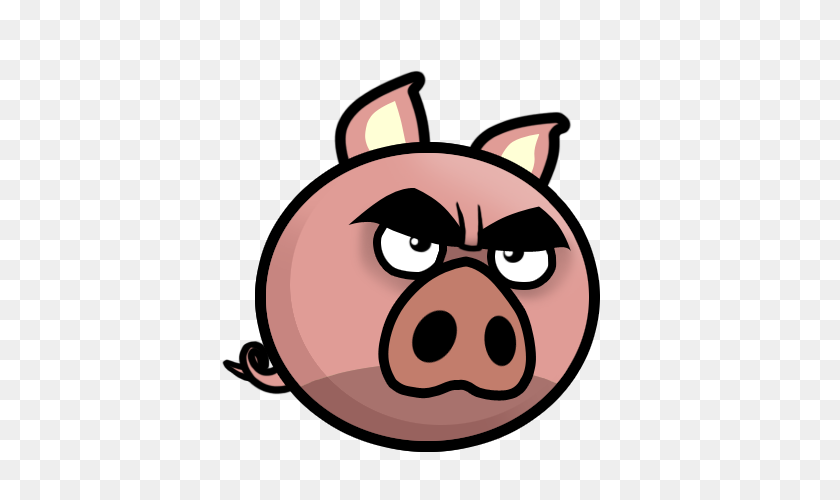 Angry Evil Pig Mascot - Angry Mouth PNG