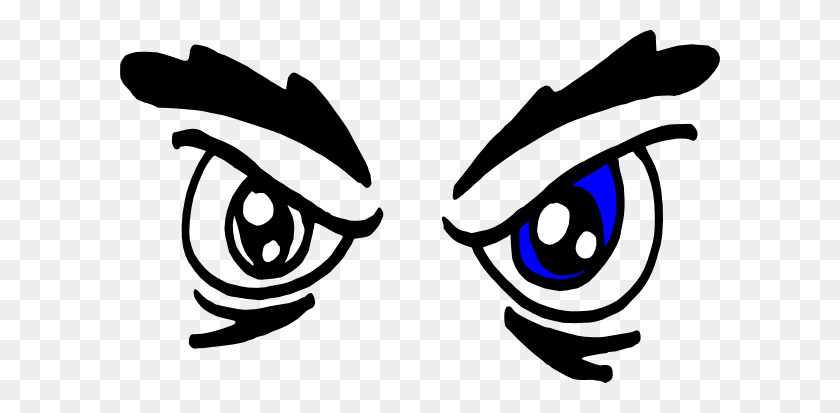 600x353 Angry Eyes Clip Art Vector Clip Art Online Royalty Free Public - Free Clipart Eyes
