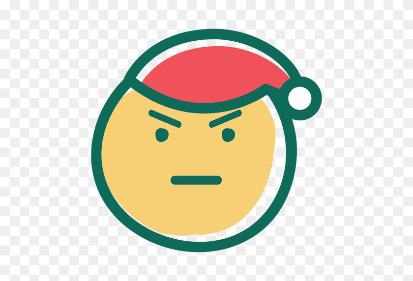 Angry Santa Claus Face Emoticon - Santa Claus Face Clipart