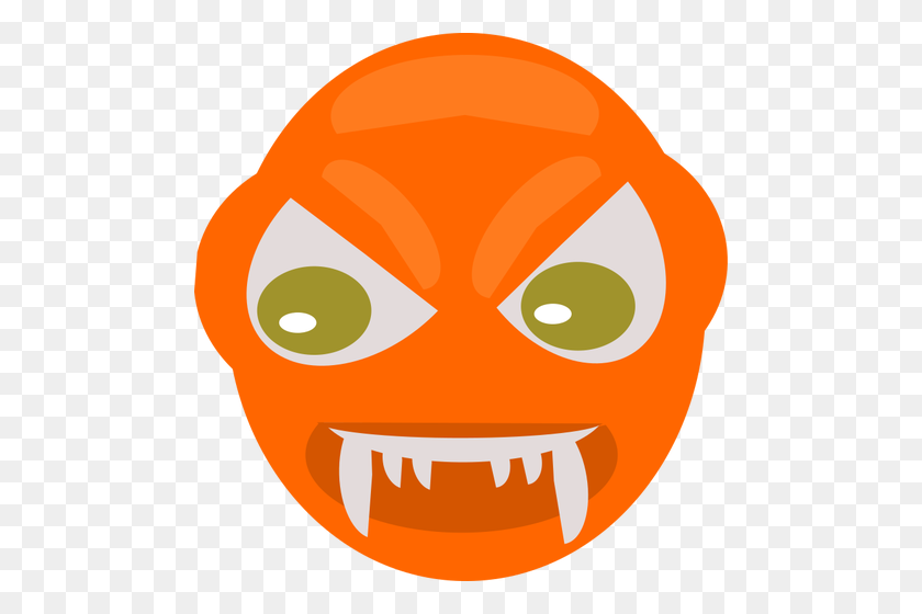 Angry Vampire's Face - Vampire Fangs Clipart