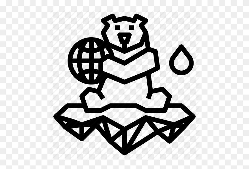 Animal, Arctic, Bear, Polar, Wildlife Icon - Polar Bear Black And White Clipart