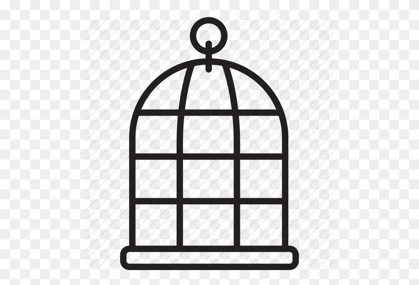 Animal, Bird, Cage, Fly, Keep, Pet Icon - Bird Cage PNG