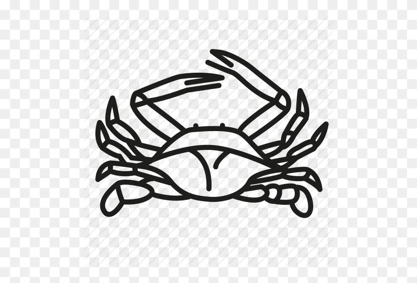 Animal, Blue Crab, Crab, Ocean Life, Sea Creature, Shellfish Icon - Blue Crab PNG