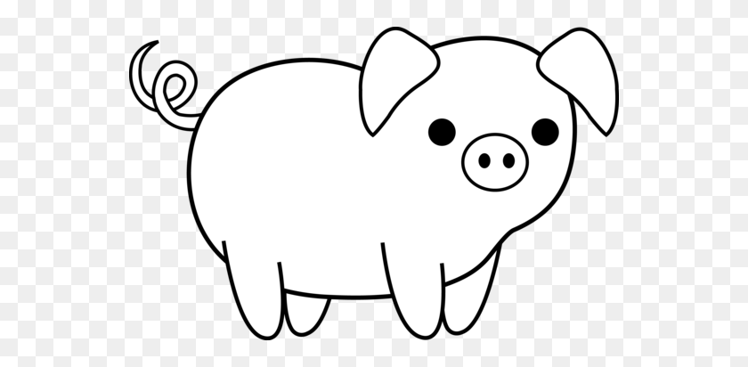 Free Black And White Pig Clipart, Download Free Clip Art, Free Clip Art on  Clipart Library