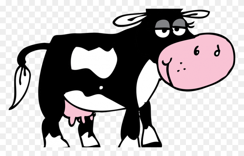 Animated Cow Pictures 18, Buy Clip Art - Black And White Cow Clipart - Free  Transparent PNG Clipart Images Download