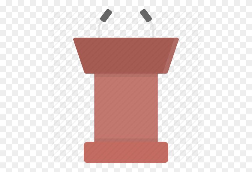 Announcement, Podium, Speaking, Speech, Stand Icon - Podium Clipart