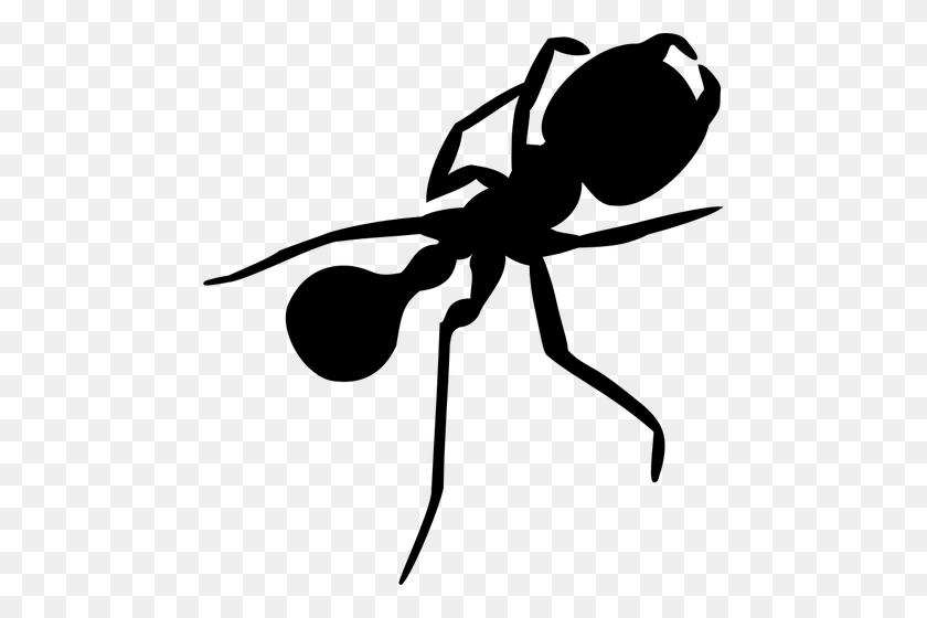 472x500 Ant With Long Legs Silhouette Vector Graphics - Long Jump Clipart