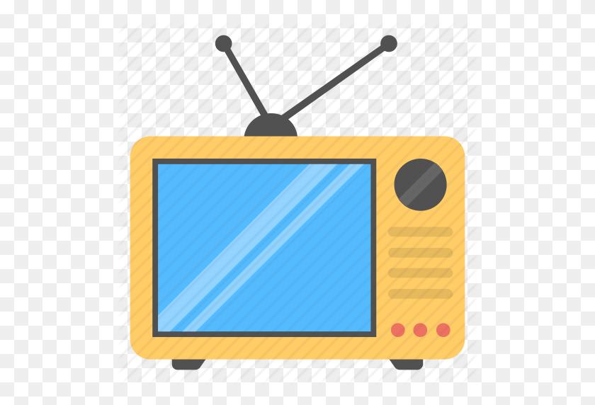 Antenna Tv, Retro Tv, Tv, Tv Set, Vintage Tv Icon - Vintage Tv PNG