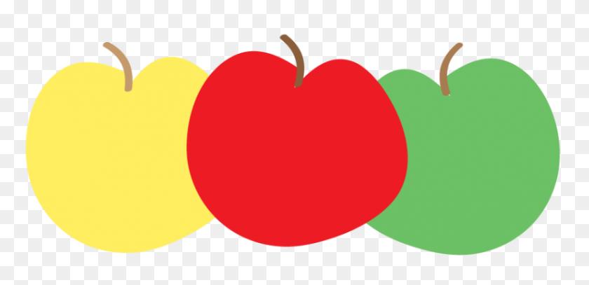 Apple Border Clip Art - Red Apple Clipart