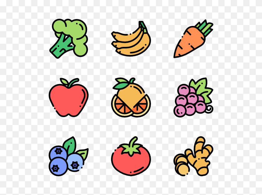 Apple Fruit Icons - Fruits And Vegetables PNG