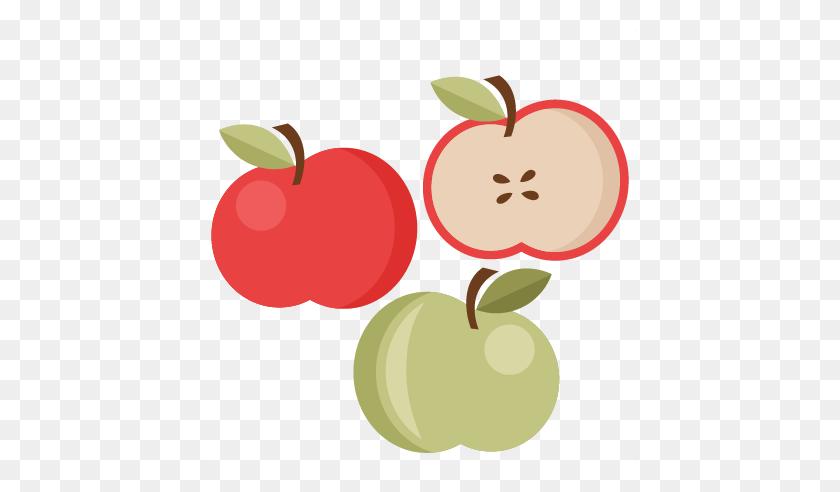 Apple Set Cutting Apple Cute - Sliced Apple Clipart