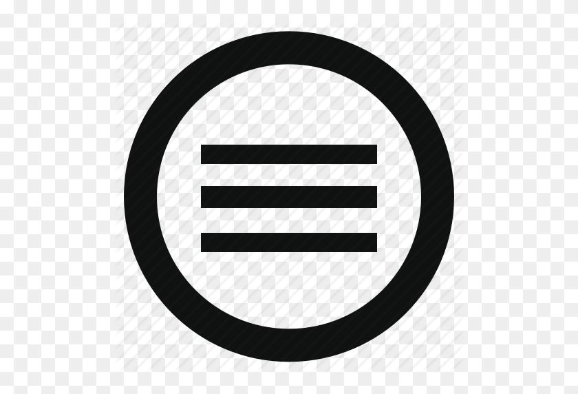 Application, Circle, Hamburger, Menu, Navigation, Options, Slide Icon - Menu Icon PNG