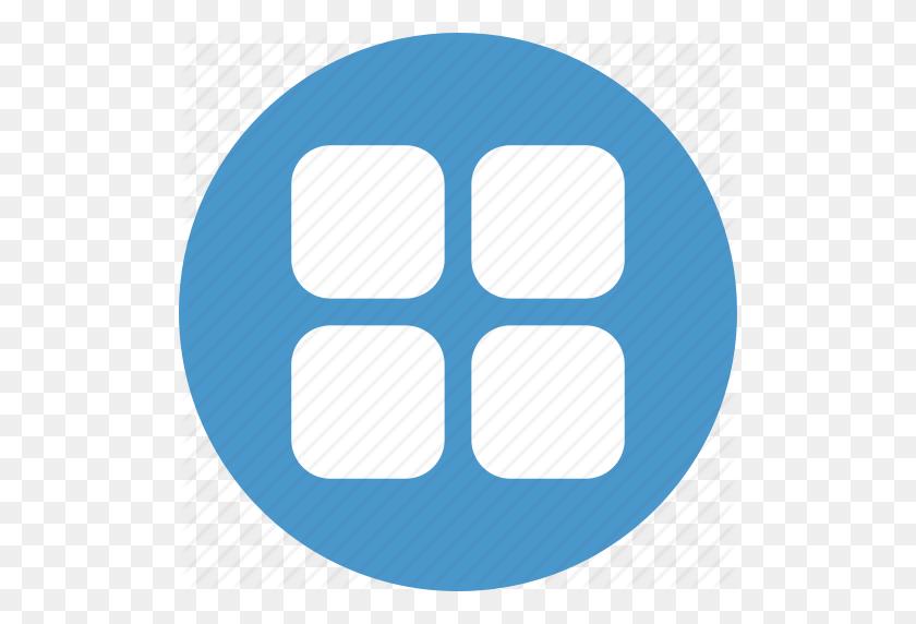 Applications, Apps, Grid, List, Menu Icon - Menu Icon PNG