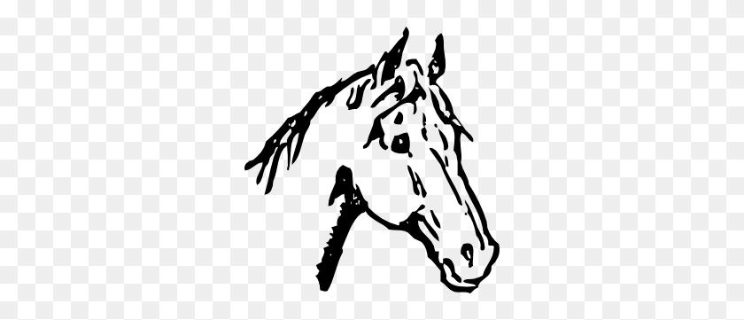 Arabian Horse Head Clipart - Mustang Clipart