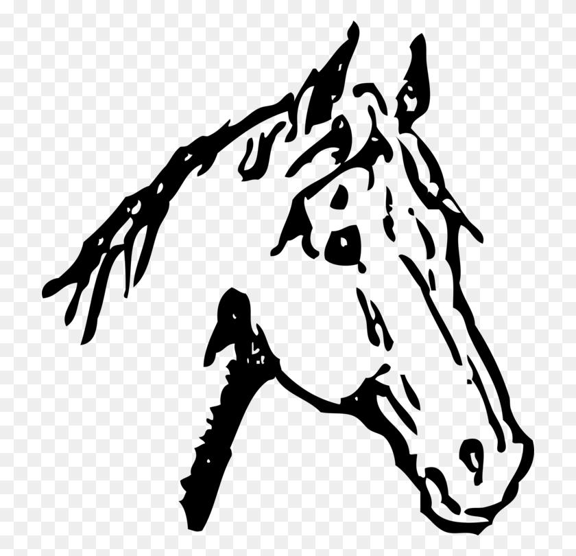 Arabian Horse Horse Head Mask Pony Drawing Line Art Free - Pony Clipart Black And White